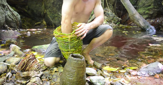Primitive Technology: Trampa para crustáceos