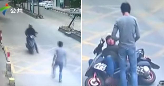 Bruce Lee se reencarna en un camionero y le da una lección a un ladrón