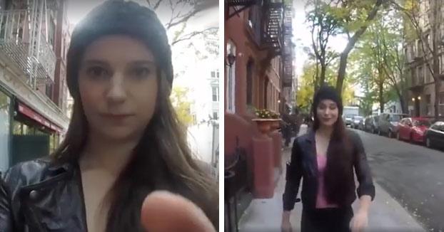 Esta chica caminó 10 horas por Manhattan usando jeans y chaqueta. Esto es lo que pasó...