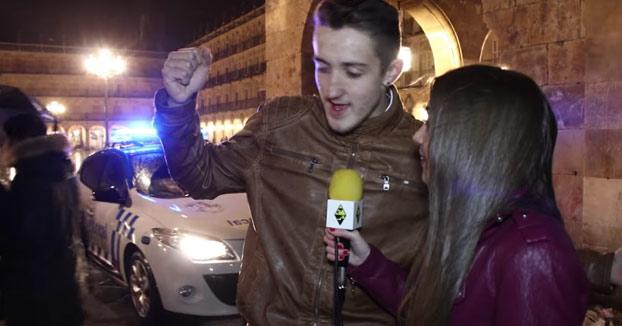 Nochevieja universitaria en Salamanca. Los deseos para el nuevo año de los jóvenes (Vídeo)