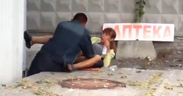 Escena de amor en Rusia: ''Te he dicho que me lo comas!''
