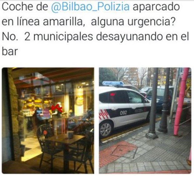 La policía municipal de Bilbao la vuelve a liar en las redes sociales