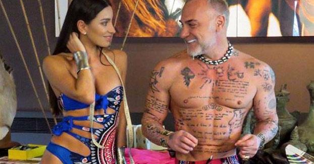 La bicicleta del millonario Gianluca Vacchi y su novia Giorgia Gabriele