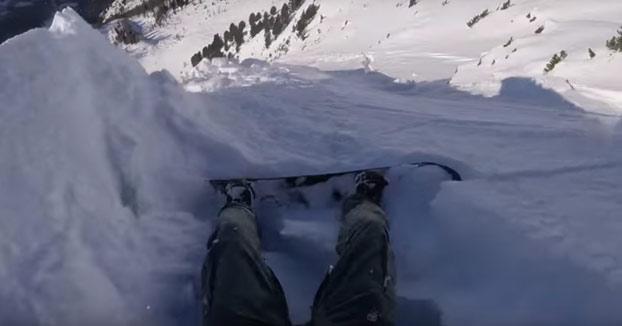 Susto mientras hacía snow en los Alpes suizos