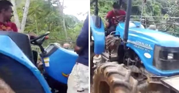 Y así de fácil es cómo se pierde un tractor