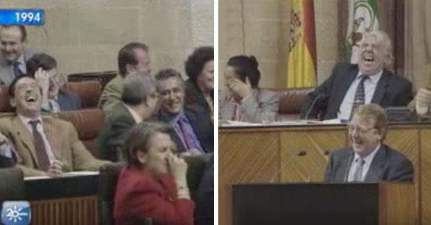 Ataque de risa en el Parlamento Andaluz. Año 1994