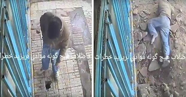 Fumar mata: Tira un cigarro por un agujero en el suelo y le explota en la cara