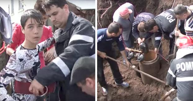 Un niño se ofrece voluntario para salvar a otro que había caído en un pozo en Rumanía