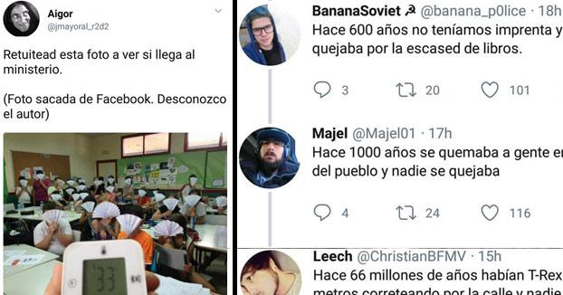 El consejero de Sanidad de Madrid recomienda abanicos a los niños en colegios ante la ola de calor y Twitter responde