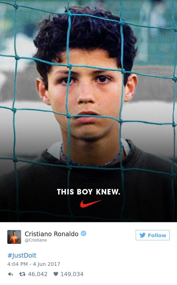 Cristiano Ronaldo tuiteó el nuevo anuncio de Nike en el que aparece y le ha salido el tiro por la culata