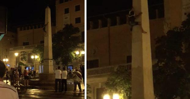 Celebración de la Champions en Palma de Mallorca. Atentos a la hostia que se mete