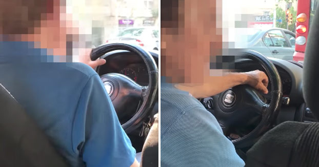 Graba el trayecto con un taxista borracho en Barcelona
