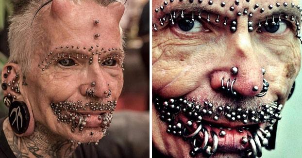 Rolf Buchholz, el hombre más perforado del mundo. 453 piercings, 278 de ellos en los genitales