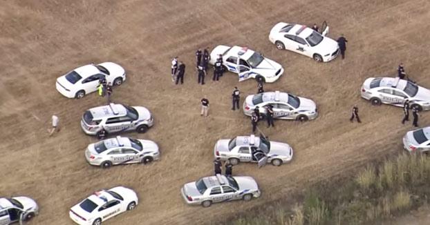 Multitudinaria persecución policial con más de una decena de coches de policía