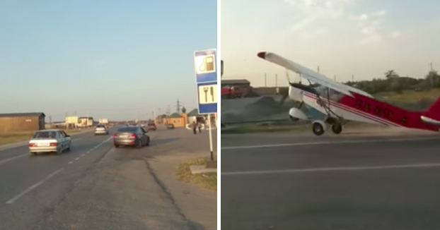 Ir a Rusia es como entrar en GTA: Intento de despegue en la carretera