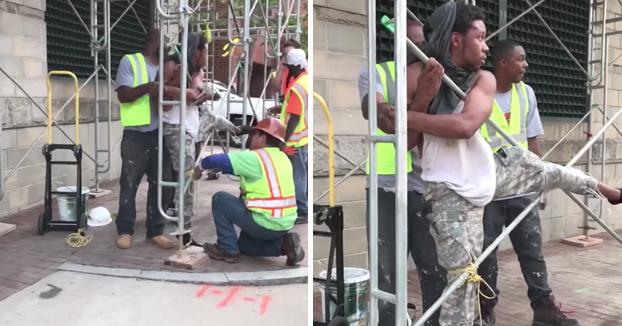 Le pillan robando en el camión y los obreros hacen lo siguiente para esperar a que llegue la policía