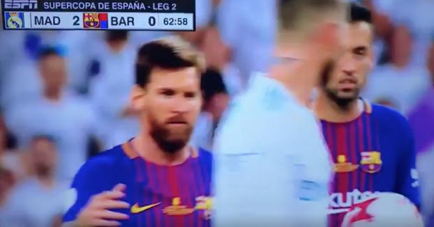 La vacilada de Sergio Ramos a Messi durante el Real Madrid - Barça