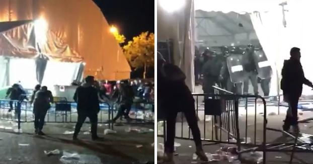 Ocho agentes heridos y 27 detenidos en una batalla campal en el macrobotellón de Majadahonda (Vídeo)