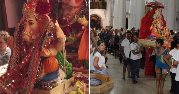 Dimite un párroco de Ceuta por permitir entrar en una iglesia al dios hindú Ganesh