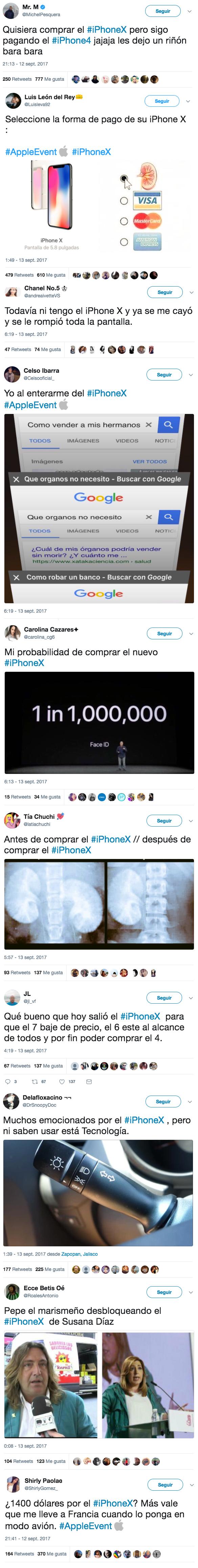 Los mejores memes y tuits sobre el nuevo iPhone X