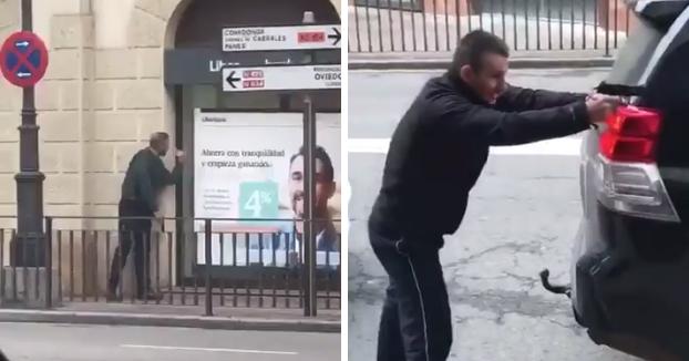 Atraco en un banco de Cangas de Onís, Asturias. Tiroteo entre los atracadores y la Guardia Civil (Vídeos)