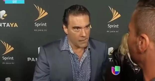 El tremendo bofetón del actor Eduardo Yáñez a un periodista que le preguntó por su hijo (Vídeo)