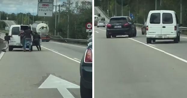 Un empresario persigue por la autovía a siete individuos que intentaron robarle chatarra en Asturias