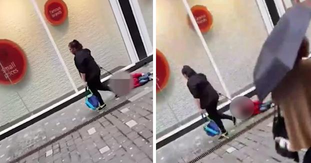 La mujer que arrastraba a su hijo por la calle: ''No soy mala madre, no sabéis lo que es tener un hijo con autismo''