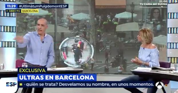 El ultra del Betis que agredió a un hombre en Bilbao estuvo en la batalla de Barcelona del 12-O