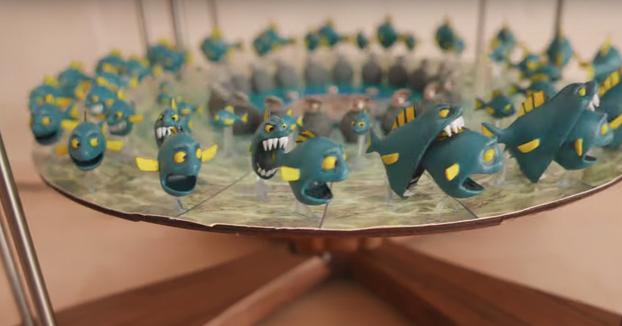 Espectacular animación 3D de peces comiéndose entre ellos