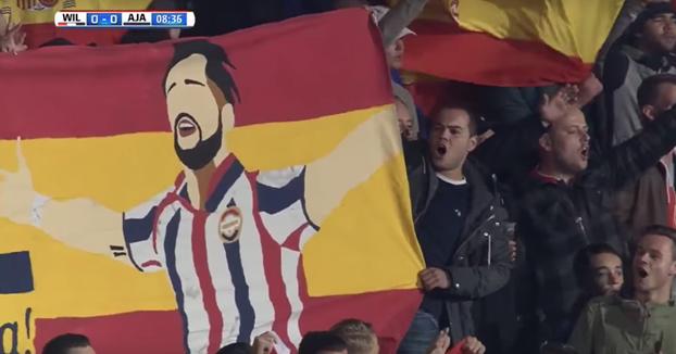 Así apoya la afición del Willem II (Holanda) al español Fran Sol tras ser diagnosticado de cáncer testicular