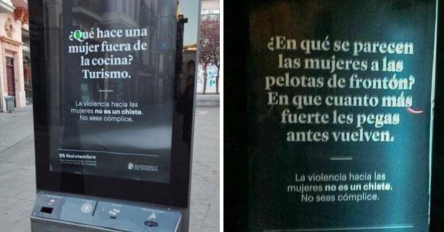 «La violencia hacia las mujeres no es un chiste» y lo acompañan con chistes denigrantes hacia la mujer