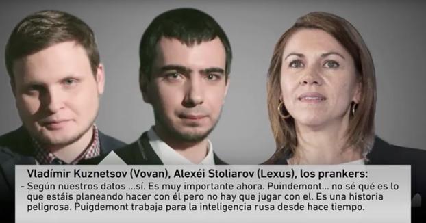 La broma de dos humoristas rusos a Cospedal: Le hacen creer que Puigdemont es un espía ruso (Audio completo)