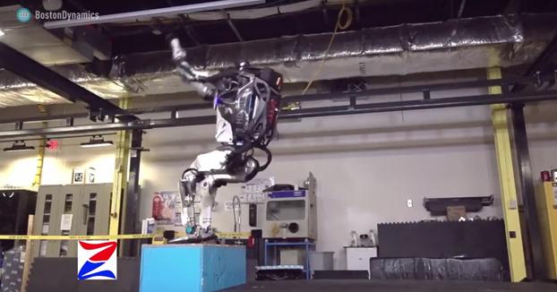 Atlas, el primer robot capaz de hacer un salto mortal hacia atrás