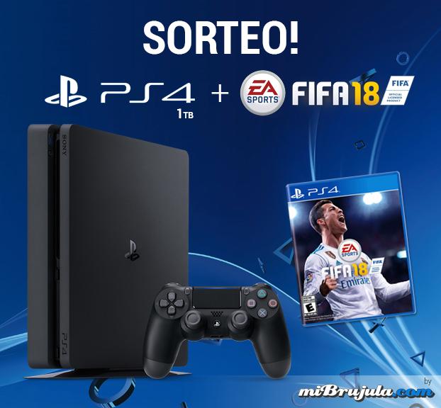 ¡Sorteo de una PS4 de 1TB + FIFA 18 entre todos vosotros!