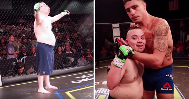 Un veterano de la UFC hizo que el sueño de este luchador con síndrome de Down se hiciera realidad