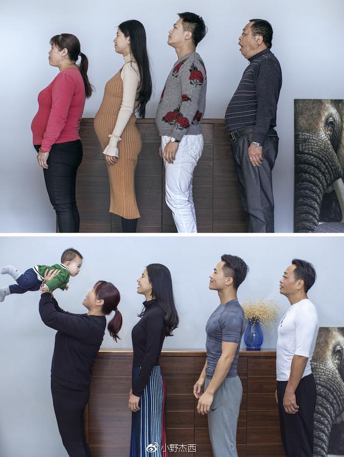 Esta familia china pasó 6 meses haciendo ejercicio y ahora parecen modelos