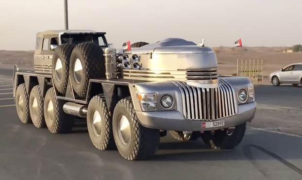 Dhabiyan, un SUV de 15 metros y 10 ruedas, la última extravagancia de un jeque de Abu Dhabi