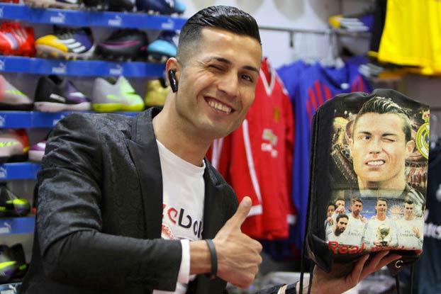 Biwar Abdullah, el doble iraquí de Cristiano Ronaldo