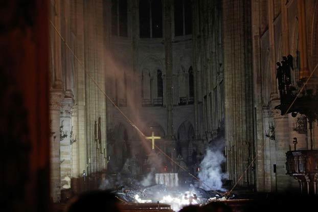Incendio en Notre Dame: Así ha quedado el interior de la catedral