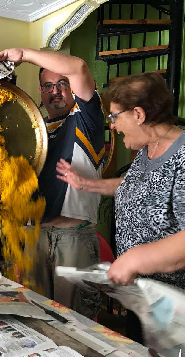 La pasión de doña Charito, óleo sobre lienzo