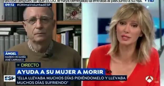 Susanna Griso al marido de María José: ''¿Grabó esos vídeos porque quiere usted incidir en una campaña electoral?''