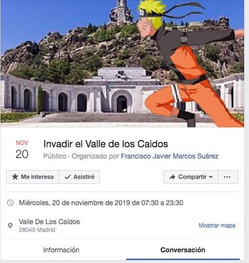 Organizan un evento para invadir el Valle de los Caídos el próximo 20 de noviembre