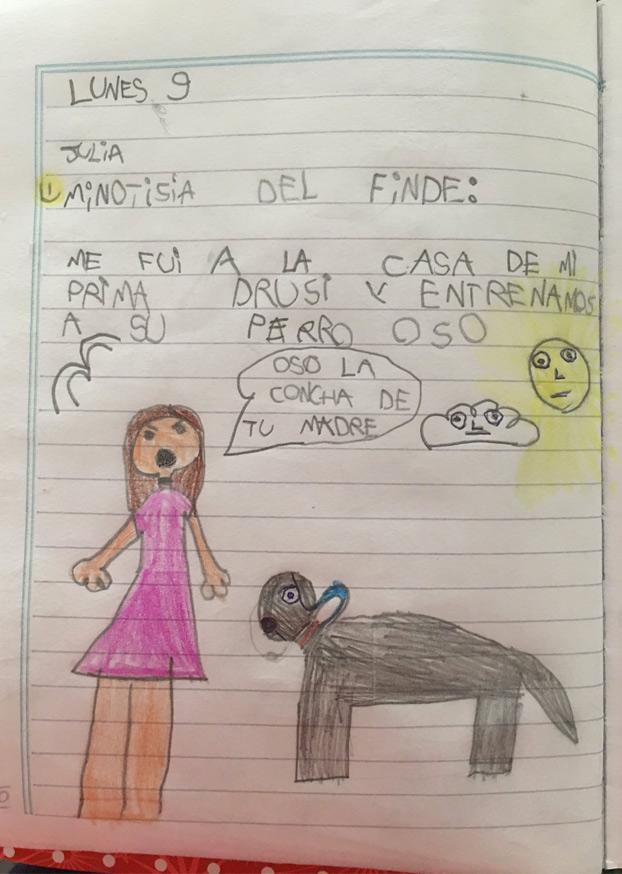 El ejercicio para el colegio de una niña de 6 años que se ha hecho viral