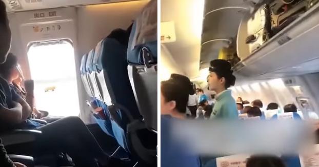 """Una mujer abre la puerta de emergencia de un avión """"para que entre aire fresco"""" y provoca un retraso en el vuelo"""