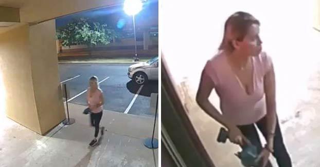 Una mujer utiliza una sierra eléctrica para robar en una clínica de bótox