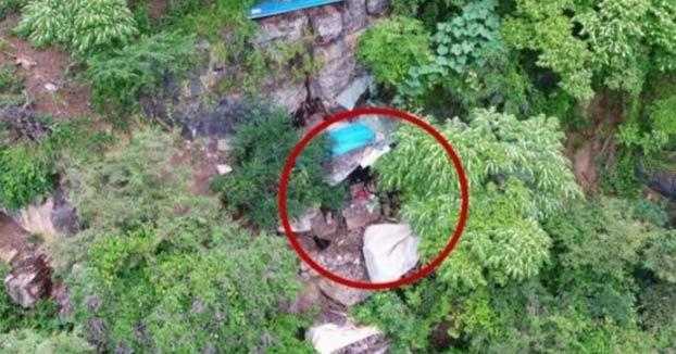 Un dron halla escondido en una cueva a un hombre que llevaba huido 17 años en China