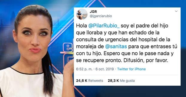 """Un padre pone a Pilar Rubio contra las cuerdas al denunciar """"trato de favor"""" en las urgencias de un hospital privado"""